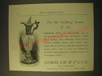 1893 Gorham Manufacturing Co. Silversmiths Ad - For the Yachting Season of '93