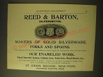 1893 Reed & Barton Silversmiths Ad - Makers of solid silverware forks and spoons