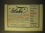1893 Globe Office Furniture Ad - Globe Business Furniture Filing Cabinets Desks