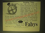 1893 Fahys Monarch 14 Karat Gold Filled Watch Case Ad - Keeping Time