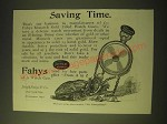 1893 Fahys Monarch 14 Karat Gold Filled Watch Case Ad - Saving Time