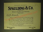 1893 Spaulding & Co. Gold and Silver Smiths Ad - Gift Jewels