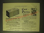 1893 United States Printing Company Duplicate Whist & Congress Carton Cards Ad