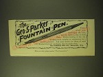 1893 Geo. S. Parker Fountain Pen Ad