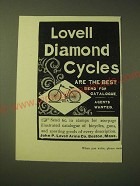 1893 Lovell Diamond Bicycles Ad - Lovel Diamond Cycles are the Best