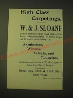 1893 W.&J. Sloane Ad - High Class Carpetings