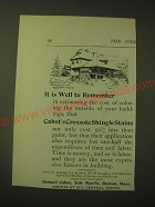 1893 Samuel Cabot Creosote Shingle Stains Ad - It is well to remember