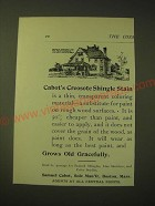 1893 Samuel Cabot Creosote Shingle Stains Ad - Grows old gracefully