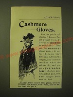 1893 Julius Kayser Cashmere Gloves Ad - Cashmere Gloves