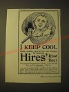1893 Hires' Root Beer Ad - I keep cool
