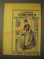 1893 liebig Company's Extract of beef Ad