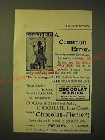 1893 Chocolat Menier Ad - A Common Error