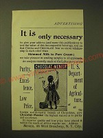 1893 Chocolat Menier Ad - It is only necessary