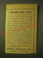 1893 Pond's Extract Ad - A Midsummer night's Dream