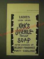 1893 Kirk's Juvenile Toilet Soap Ad - Ladies look upon