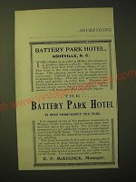 1893 The Battery Park Hotel, Asheville, N.C. Ad