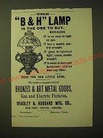 1893 Bradley & Hubbard Lamp Ad - The B&H Lamp is the one to buy