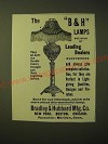 1893 Bradley & Hubbard Lamp Ad - The B&H Lamps are sold by leading dealers