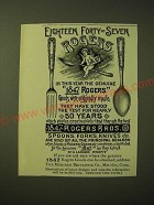 1893 1847 Rogers Bros. Silver Ad - Eighteen Forty-Seven Rogers in this year
