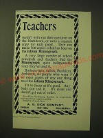 1893 A.B. Dick Edison Mimeograph Ad - Teachers