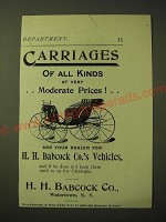 1893 H.H. Babcock Carriages Ad - Carriages of all kinds