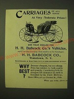 1893 H.H. Babcock Carriages Ad - Carriages of all kinds at very moderate prices