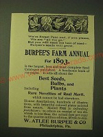 1893 W. Atlee Burpee & Co. Seeds Ad - We're sweet peas and, if you please