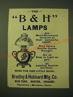1893 Bradley & Hubbard Lamp Ad - The B&H Lamps