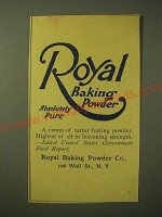 1893 Royal Baking Powder Ad - Royal Baking Powder Absolutely Pure