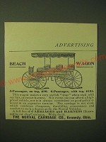 1893 Norval Carriage Ad - Beach Wagon