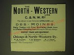 1893 North-Western line Railway Ad - The direct route