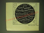 1893 Crane Bros. Paper Ad - If you want the best use Gold Medal Linen Record