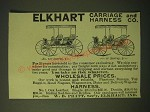 1893 Elkhart Carriage and Harness Co. No. 722 Surrey and No. 56 Surrey Ad