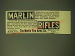 1893 Marlin Fire Arms Ad - Marlin Rifles