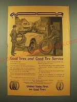 1918 United States Tires Ad - Good tires and good tire service