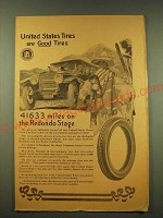 1918 United States Tires Ad - 41633 miles on the Redondo Stage
