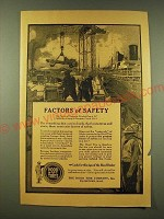 1918 Hood tires Ad - The Factor of safety in shipbuilding is 5-7