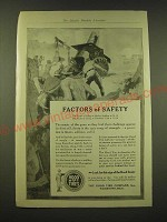 1918 Hood Tires Ad - The Factor of safety in modern artillery is 1 1/2-10