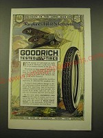 1918 Goodrich Silvertown Cord Tires Ad - War-planes enlist Silvertowns