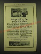 1918 Pullman Company Ad - Safeguarding the Public's Health