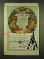 1918 Parker Safety Sealed Fountain Pen Ad - Keep the home fires burning