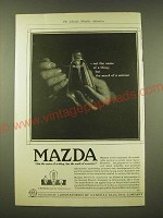 1918 General electric Mazda light bulb Ad - Not the name of a thing