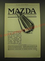1918 General Electric Mazda light bulb Ad - From the incoming host of new ideas