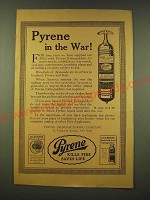 1918 Pyrene Fire Extinguishers Ad - Pyrene in the war!
