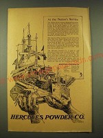1918 Hercules Powder Co. Ad - At the Nation's Service