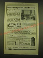 1918 American Radiator Co. American Radiators & Ideal Boilers Ad - South Room