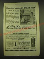 1918 American Radiator Company American Radiators & Ideal Boilers Ad - Genuine