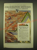 1918 Johns-Manville Asbestos Color-Blende Shingles Ad -  aristocrat