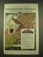 1918 Johns-Manville Asbestos Color-Blende Shingles Ad - Fire-Safe