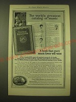 1918 Victor Records Ad - The world's greatest catalog of music